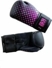 Hybride bokshandschoenen BXR | zwart-roze | 16 oz