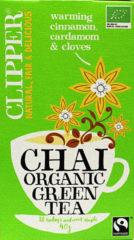 Clipper Chai groen tea bio 20 Stuks