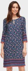 TOM TAILOR TOM TAILOR Damen Tunika-Kleid mit floralem Muster, Damen, real navy blue, Größe: 38, blau, gemustert, Gr.38