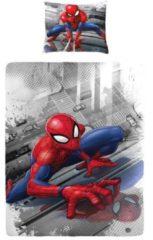 Dc Comics Spiderman Dekbedovertrek - 100% Katoen - 1-persoons (140x200 Cm + 1 Sloop) - 1 Stuk (60x70 Cm) - Multi