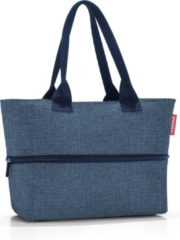 Reisenthel Shopper E1 Shopper Schoudertas - 12L - Twist Blue Blauw