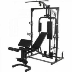 Zwarte Gorilla Sports Krachtstation verstelbaar met losstaande Fitnessbank