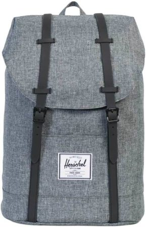 Afbeelding van Zwarte Herschel Supply Co. Men's Retreat Backpack - Raven Crosshatch/Black Rubber