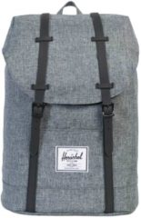 Zwarte Herschel Supply Co. Men's Retreat Backpack - Raven Crosshatch/Black Rubber
