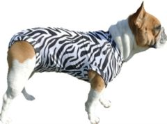 Witte Medical Pet Shirt Hond Zebra Print - M