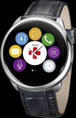 MYKRONOZ ZeRound Premium Smartwatch Leder schwarz