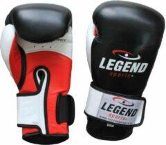 Legend Sports Bokshandschoenen Power Zwart/wit/rood Mt 16oz