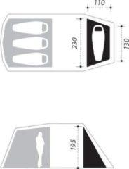 NOMAD® NOMAD Single bedroom - Dogon 3 (+1) tent - Twill