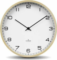Beige Huygens - Wood 25 Arabic - Wit - Wandklok - Stil - Quartz uurwerk