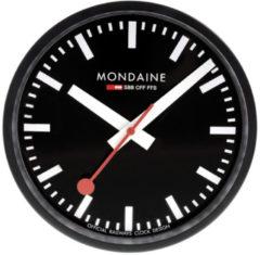 Mondaine Wall Clock A990.CLOCK.64SBB Klok - Aluminium - Zwart - Ø250 mm