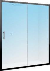 Schuifdeur Novellini Zephyros 2P Helder Glas 96x195 cm Mat Zwart Profiel