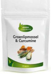 Healthy Vitamins Groenlipmossel en Curcumine met Zwarte bes blad | 60 capsules ⟹ Vitaminesperpost.nl