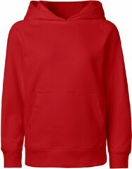 Rode Neutral® organic kinder hooded sweater