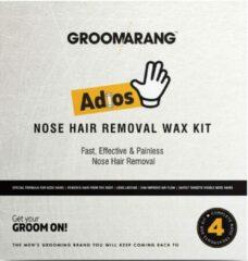 Groomarang Adios Neushaar Verwijder - Wax Kit - Voor Hem - Incl. Benodigdheden