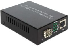 Zwarte Media omzetter Delock 1000Base-T SFP -<gt/> RJ45 Bu/Bu