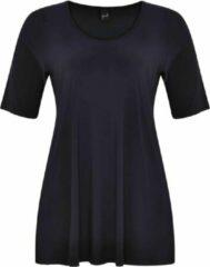 Marineblauwe Yoek | Grote maten - dames t-shirt korte mouw - donkerblauw