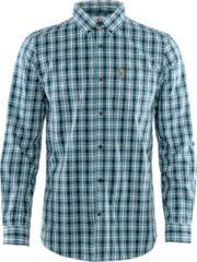 Fjällräven - Övik Shirt L/S - Overhemd maat M, grijs/blauw/turkoois