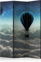 Beige Kamerscherm - Scheidingswand - Vouwscherm - Night expedition [Room Dividers] 135x172 - Artgeist Vouwscherm