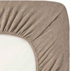 Fluweel Zachte Badstof Hoeslaken Eenpersoons Taupe | 90x200/210/220 | Hoogwaardige Kwaliteit | Perfecte Pasvorm