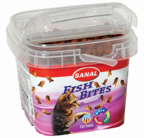 Afbeelding van Sanal Fish Bites Cat Treats - Kattensnack - Zalm 75 g