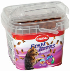 Sanal Fish Bites Cat Treats - Kattensnack - Zalm 75 g