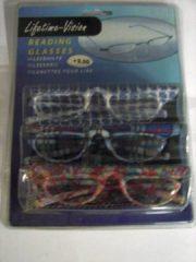 Massamarkt Set leesbrillen met etui