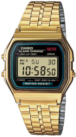Afbeelding van Casio Quartz Horloge A159WGEA-1EF (l x b x h) 36.8 x 32.2 x 8.2 mm Goud Materiaal (behuizing): Hars Materiaal (armband): RVS