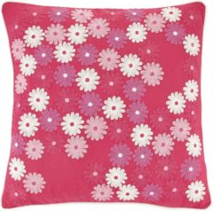 Paarse Dutch Decor Kussenhoes Merode 45x45 Cm Fuchsia
