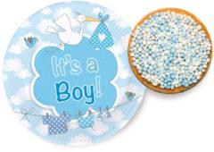 Blauwe Ootje Kadootje Geboorte Jongen Bordjes It's a Boy 18cm - 8 stuks