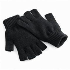 Zwarte Regatta Vingerloze gebreide handschoenen zwart S/m