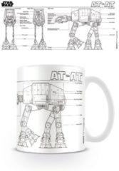 Merchandising STAR WARS - Mug - 300 ml - AT-AT Sketch