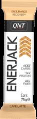 QNT Sports Nutrition QNT Enerjack 12x75g | Energiereep met havermout | Café latte smaak (mokka)