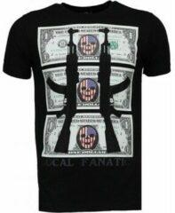 Zwarte T-shirts Local Fanatic AK-47 Dollar - Rhinestone T-shirt