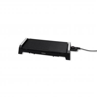 Afbeelding van Inventum GP510 buitenbarbecue & grill 2200 W Electrisch Tafelblad Zwart, Roestvrijstaal