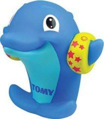 Tomy waterfluitje dolfijn junior 15 x 12 x 10 cm rubber blauw