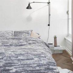 Grijze At Home with Marieke At Home Melee flanel dekbedovertrek - 1-persoons (140x200/220 cm + 1 sloop)