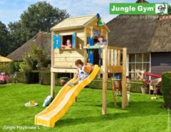 Rode Jungle Gym | Playhouse L | DeLuxe | Rood