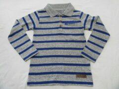 Dirkje, polo shirt , jongens ,lange mouw ,grijst/ blauw , 5 jaar 110