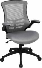 Parya HOME Bureaustoel met Opvouwbare Armsteun - Zwart