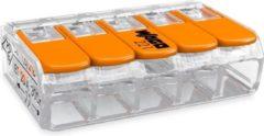 Wago 221-415 klemmenblok 1P Oranje, Transparant - Doos 25 stuks