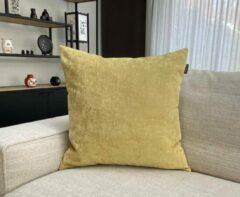 Zippi Design Fresh Mellow Yellow Sierkussen 45x45cm Luxe (veren vulling) kleur geel