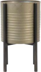 Grijze Light & Living Caski - Bloempot op voet - Tin Brons - Ø28,5 x 43,5cm