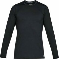 Zwarte Under Armour Coldgear Fitted Crew Heren Sporttrui - Maat L - Black/Steel