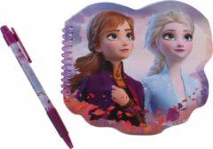Disney Notitieboek Frozen Ii 19,5 X 20 Cm Paars/blauw 2-delig