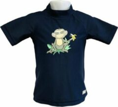 Marineblauwe Banz Shirt Rash Met Korte Mouwen Junior Jungle Navy 76 Cm