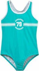 Blauwe KangaROOS badpak Sporty met sportieve frontprint