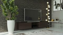 Maxima House VIGO II Zwevend TV Meubel inclusief LED - TV Meubel Wenge - TV Kast Meubel - Modern Design - 30x180x40 cm