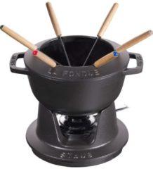 Fondue Set Schwarz 18 cm Staub schwarz