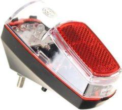 Merkloos / Sans marque 1x Fietsachterlicht / achterlicht LED 8 x 4 cm - 2x AAA - spatbordmontage - batterijachterlicht - fietsverlichting / achterlichten
