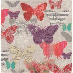 PAW gekleurde vlinders papieren servetten